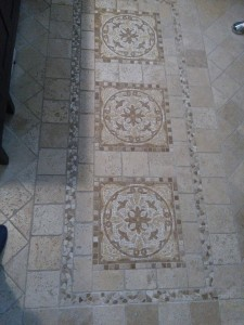 travertine floor by Terrazzo Creations Inc